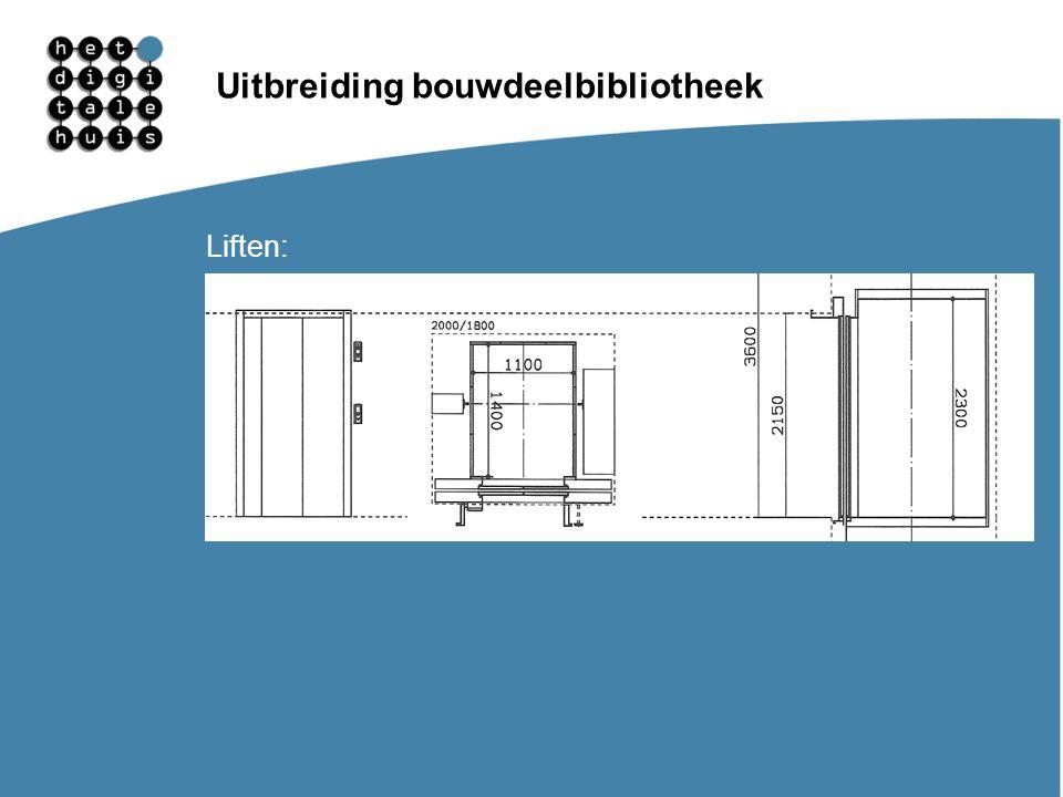Gebruikersdagen 11, 12 en 13 maart Uitbreiding bouwdeelbibliotheek Liften: