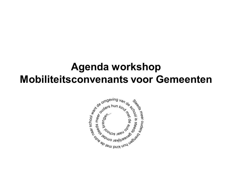 Agenda workshop Mobiliteitsconvenants voor Gemeenten