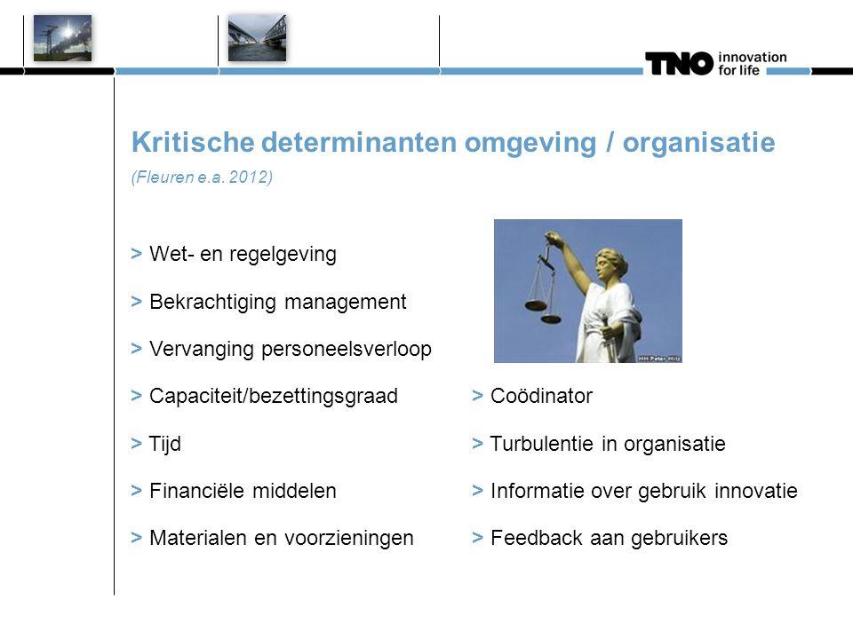 Kritische determinanten omgeving / organisatie (Fleuren e.a. 2012) > Wet- en regelgeving > Bekrachtiging management > Vervanging personeelsverloop > C