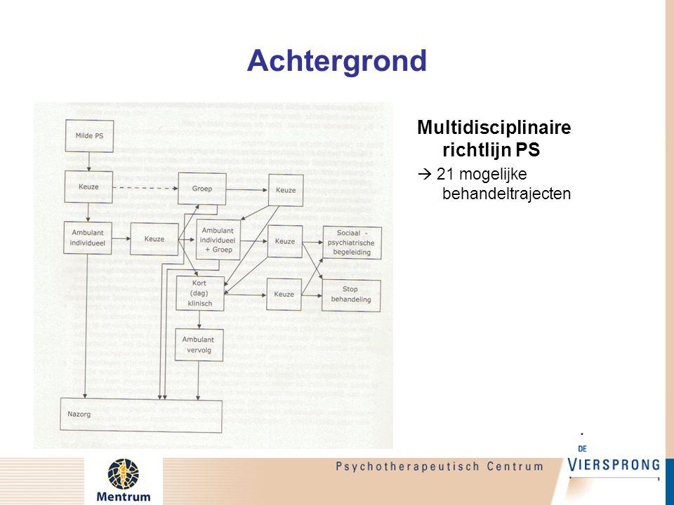 Achtergrond Doel Project Indicatiestelling: Door integratie van klinische en empirische kennis komen tot effectieve beslisregels voor behandelkeuze bij patienten met PS (beslisboom?)