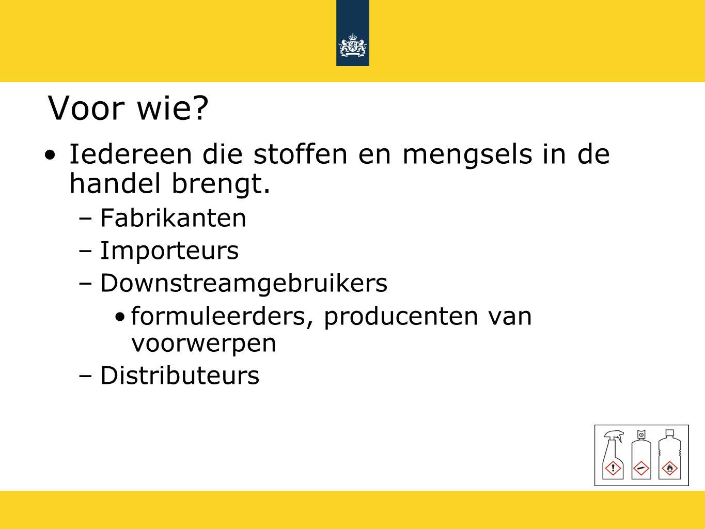 Uitgezonderde stofgroepen (1) EU-GHS is niet van toepassing op : radioactieve stoffen en mengsels niet-geïsoleerde tussenproducten stoffen en mengsels onder douanetoezicht afvalstoffen geneesmiddelen en diergeneesmiddelen cosmetica