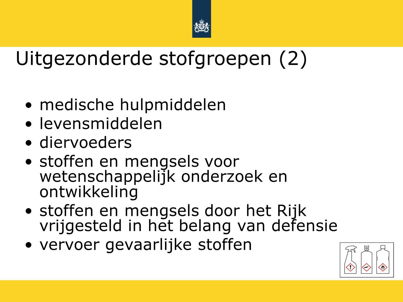 Voorbeeld: Acute toxiciteit Huidig EU-GHS Cat 1 en 2 Cat 1-3 (danger) Cat 3 Cat 4 (warning)