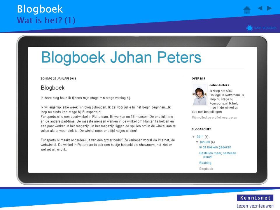 Blogboek Wat is het? (1) NAAR BLOGBOEK