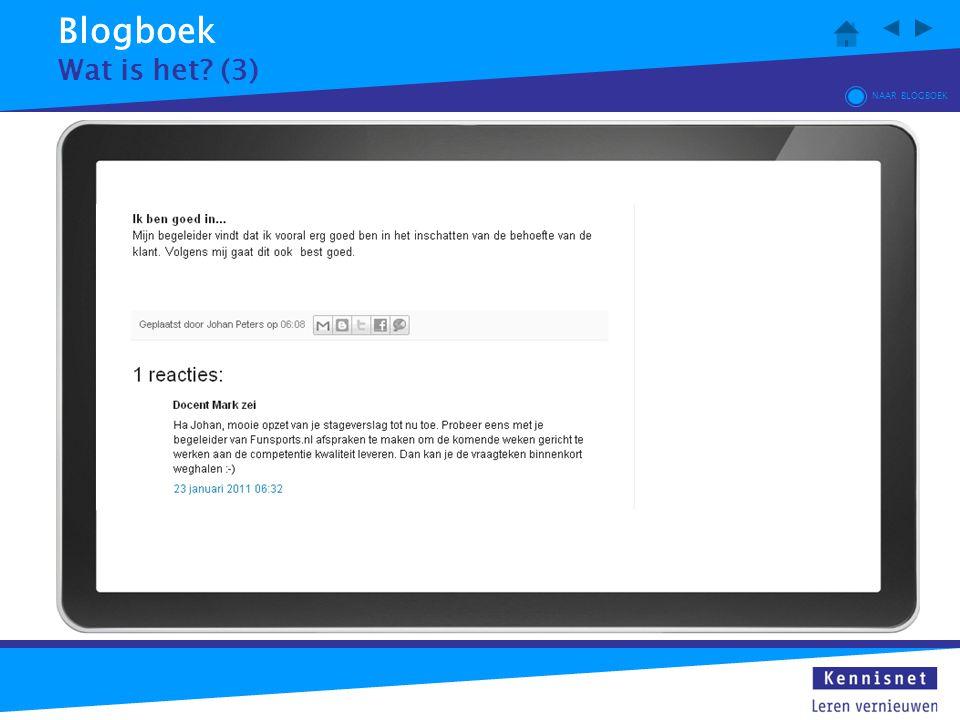 Blogboek Wat is het? (3) NAAR BLOGBOEK