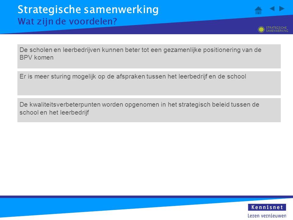 Strategische samenwerking Wat zijn de kritische factoren.