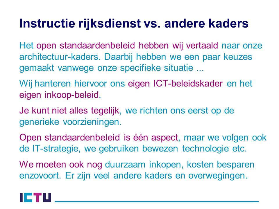 Instructie rijksdienst vs.