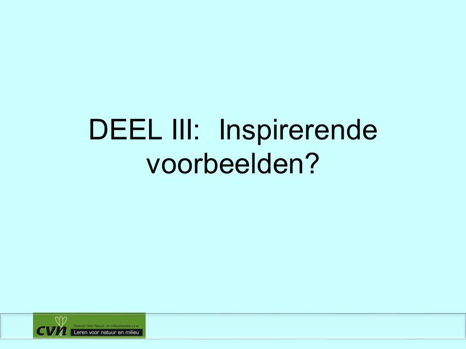 DEEL III: Inspirerende voorbeelden