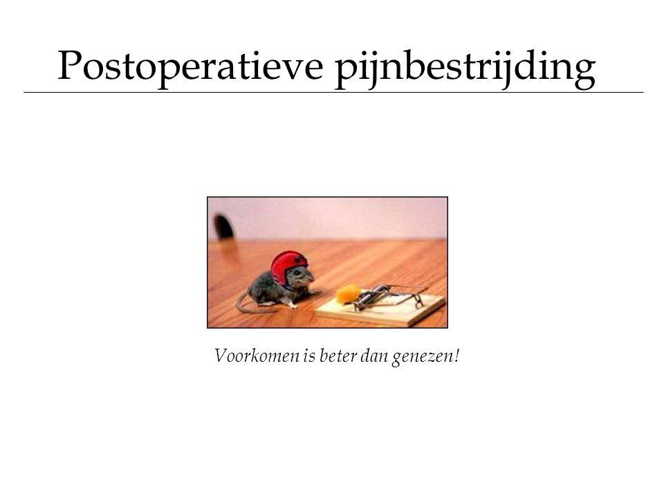 Postoperatieve pijnbestrijding Voorkomen is beter dan genezen!