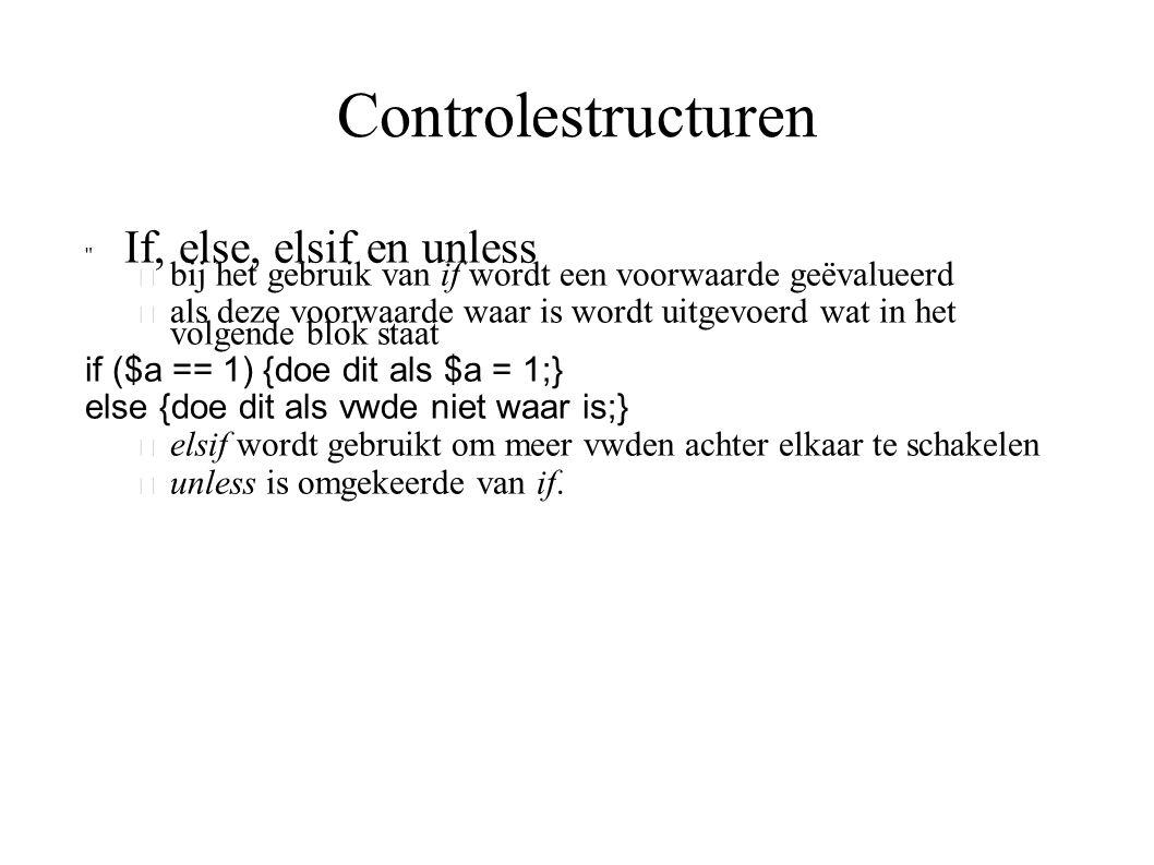 Controlestructuren