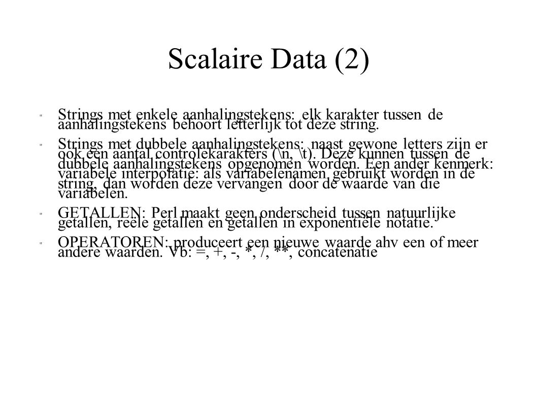 Scalaire Data (2)