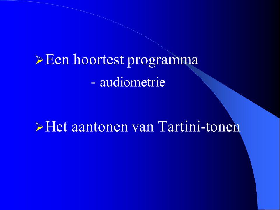  Een hoortest programma - audiometrie  Het aantonen van Tartini-tonen