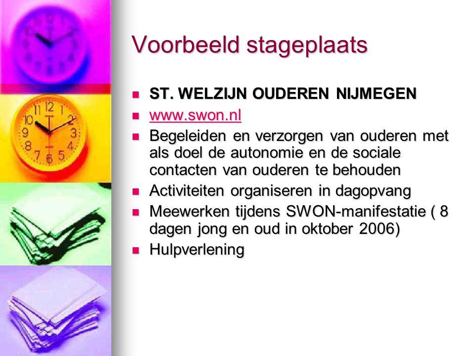 ST. WELZIJN OUDEREN NIJMEGEN ST. WELZIJN OUDEREN NIJMEGEN www.swon.nl www.swon.nl www.swon.nl Begeleiden en verzorgen van ouderen met als doel de auto