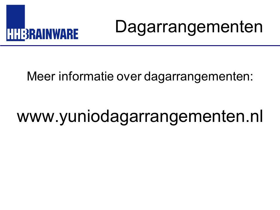 Dagarrangementen Meer informatie over dagarrangementen: www.yuniodagarrangementen.nl
