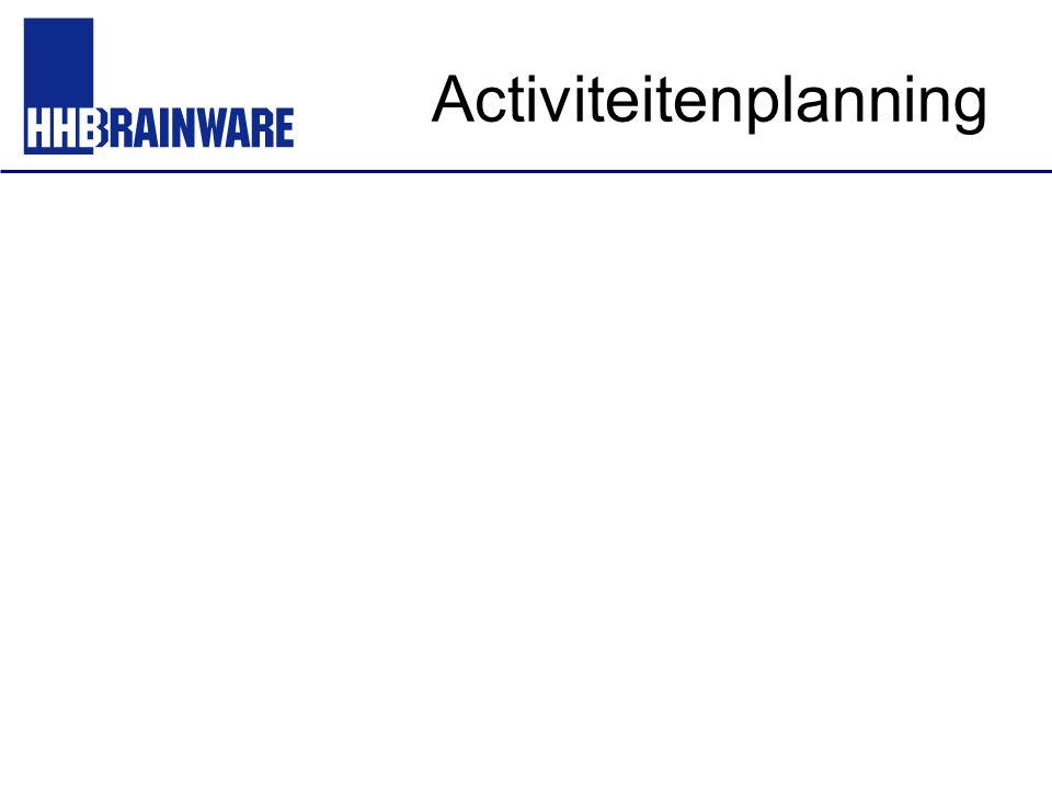 Activiteitenplanning