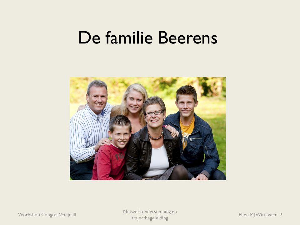 De familie Beerens Workshop Congres Venijn III Netwerkondersteuning en trajectbegeleiding Ellen MJ Witteveen 2
