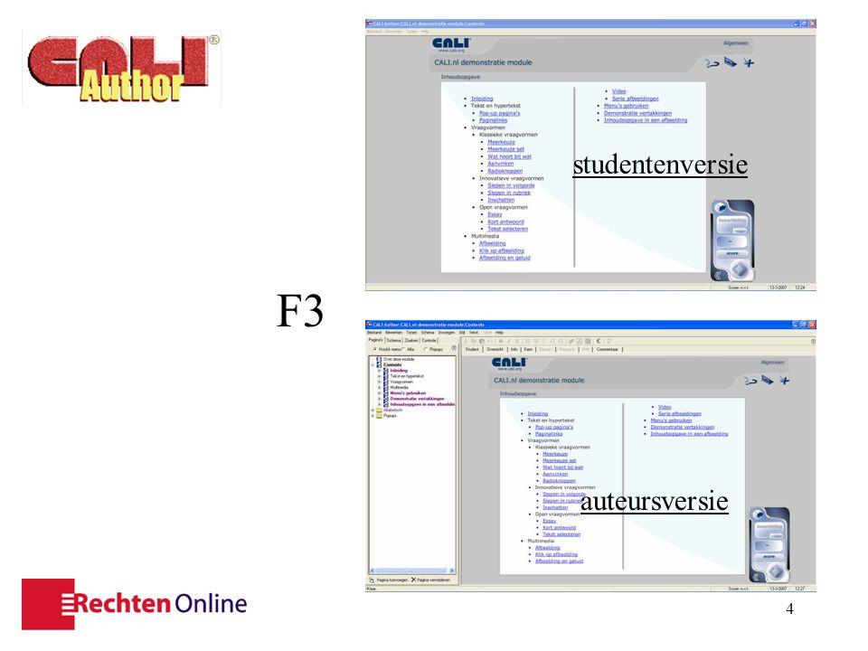 5 menubalk titelbalk module- informatie statusbalk tekst- bewerkings- balk pagina- informatie