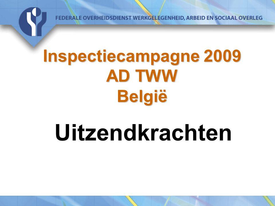 Inspectiecampagne 2009 AD TWW België Uitzendkrachten