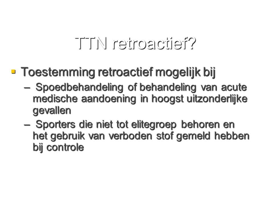 TTN retroactief.