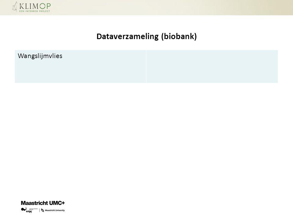 Dataverzameling (biobank) Wangslijmvlies