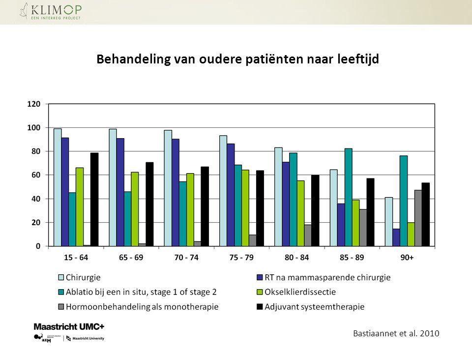 Behandeling van oudere patiënten naar leeftijd Bastiaannet et al. 2010