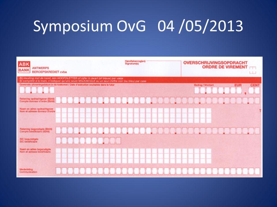 Symposium OvG 04 /05/2013