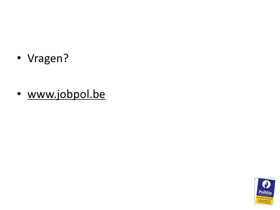 Vragen? www.jobpol.be