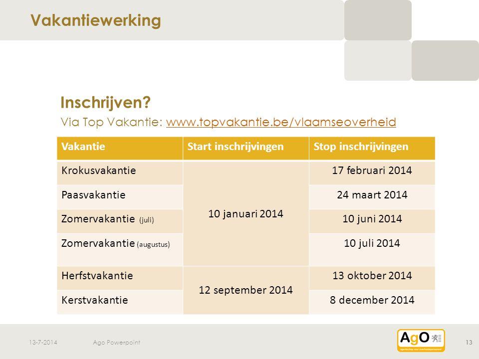 13-7-2014Ago Powerpoint13 Inschrijven.