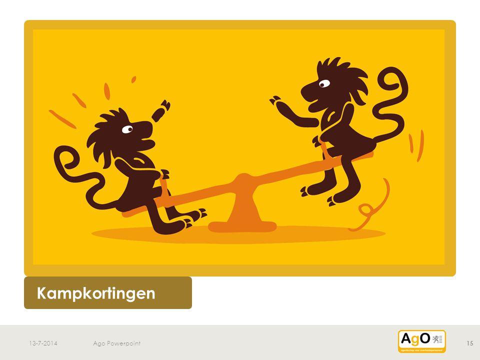 v 13-7-2014Ago Powerpoint 15 Kampkortingen