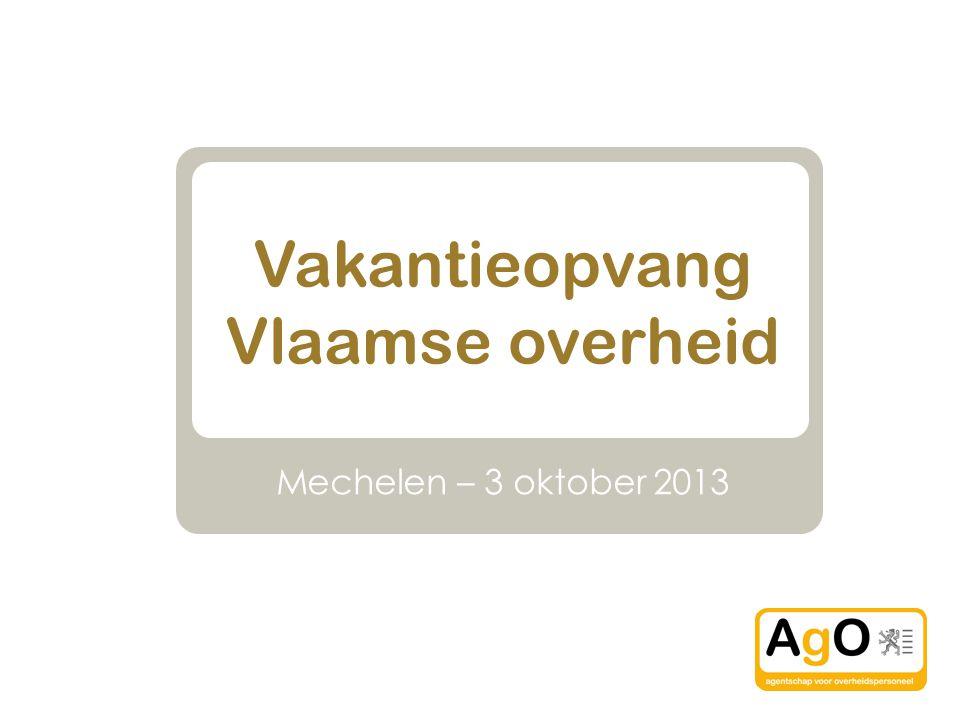 Vakantieopvang Vlaamse overheid Mechelen – 3 oktober 2013