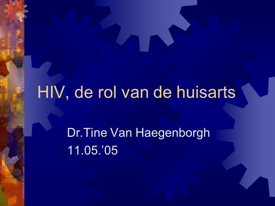 HIV, de rol van de huisarts Dr.Tine Van Haegenborgh 11.05.'05