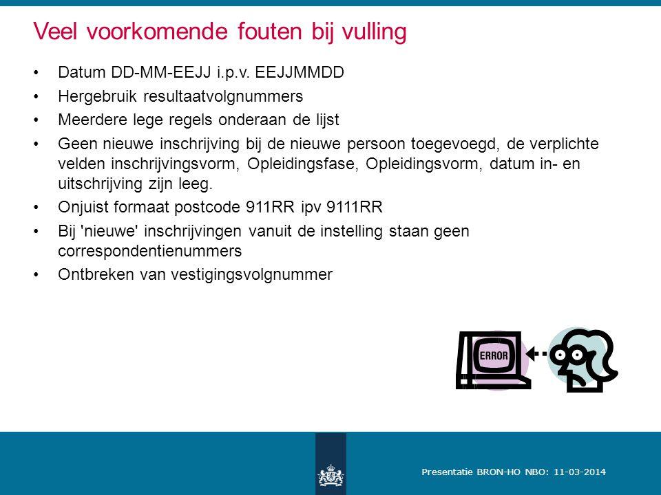 Presentatie BRON-HO NBO: 11-03-2014