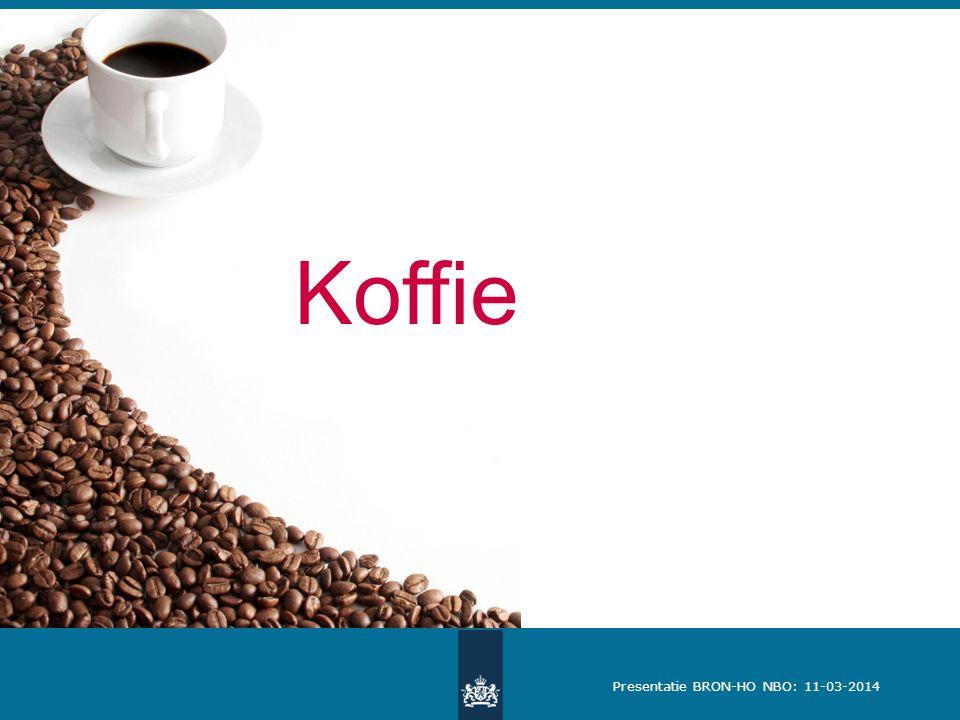 Presentatie BRON-HO NBO: 11-03-2014 Koffie