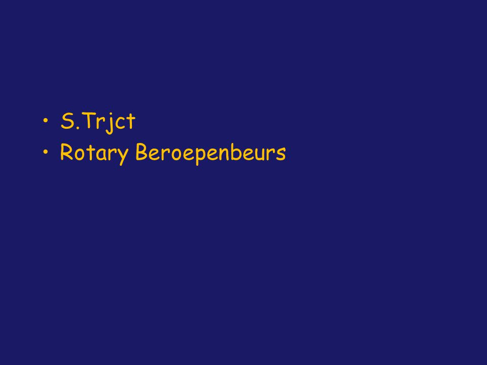 S.Trjct Rotary Beroepenbeurs