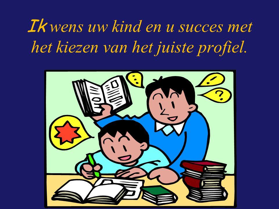 Ik wens uw kind en u succes met het kiezen van het juiste profiel.