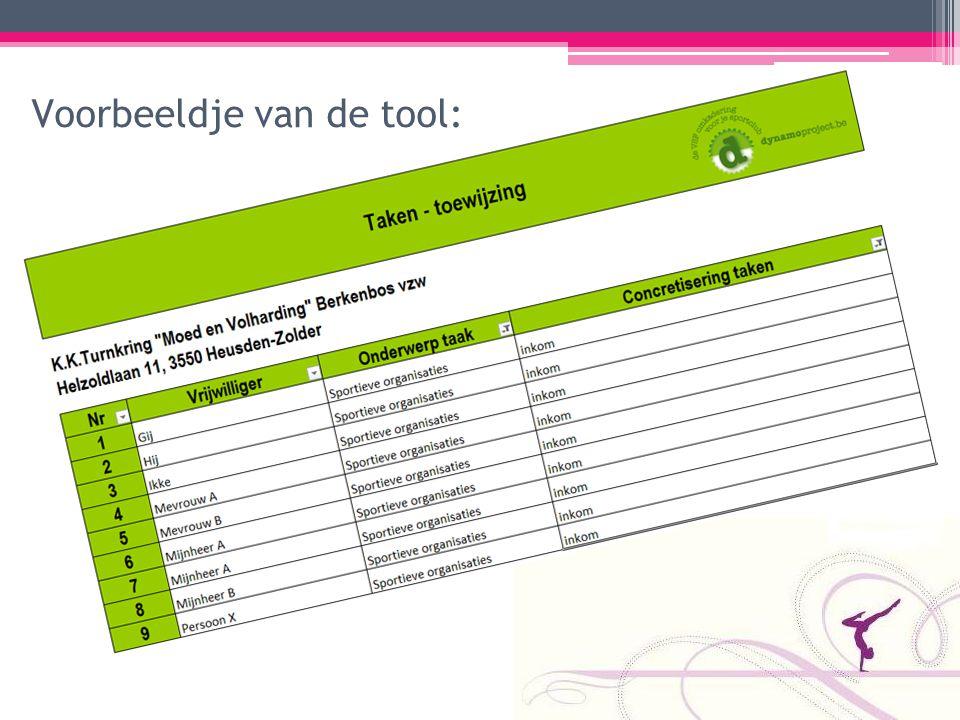 Voorbeeldje van de tool: