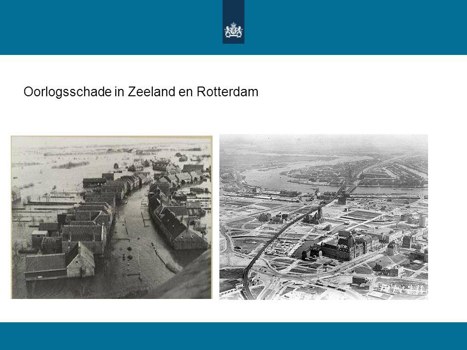 Oorlogsschade in Zeeland en Rotterdam