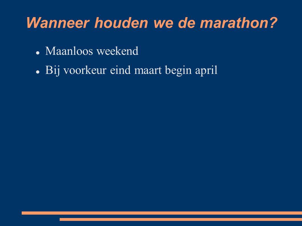 Maanloos weekend Bij voorkeur eind maart begin april