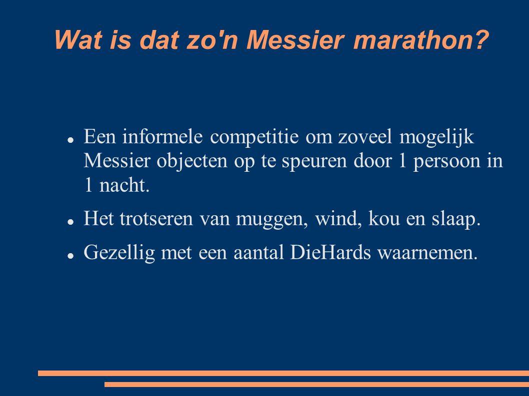 Wat is dat zo n Messier marathon.