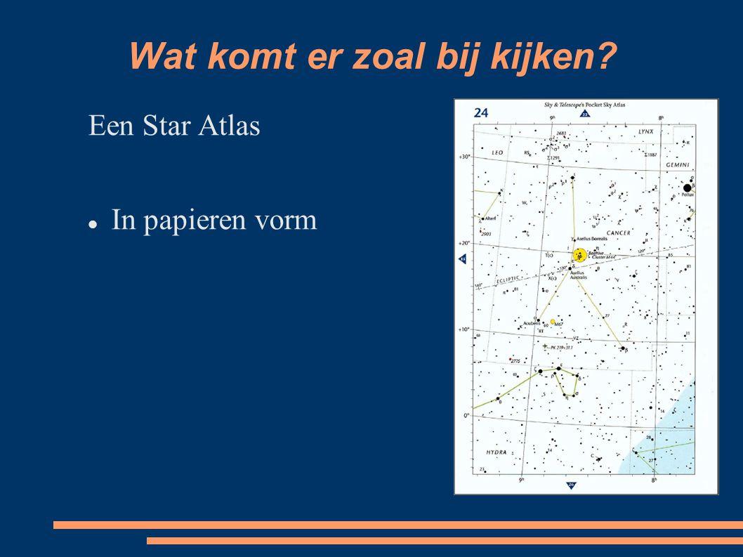 Wat komt er zoal bij kijken Een Star Atlas In papieren vorm