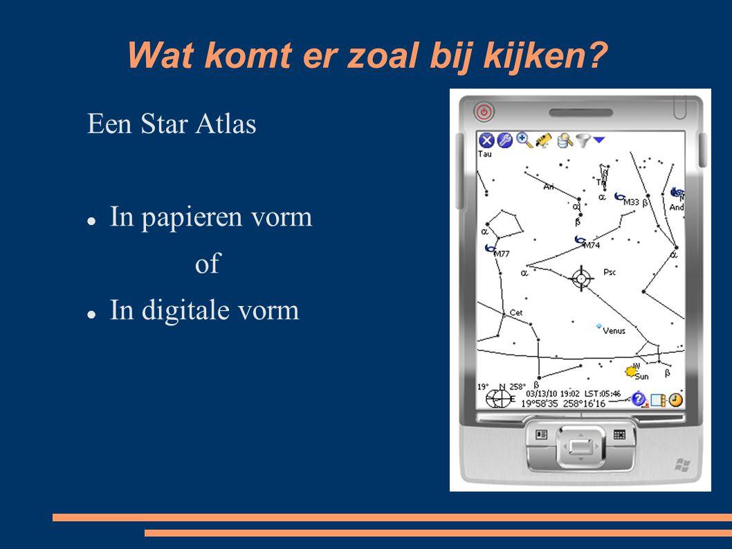 Wat komt er zoal bij kijken Een Star Atlas In papieren vorm of In digitale vorm