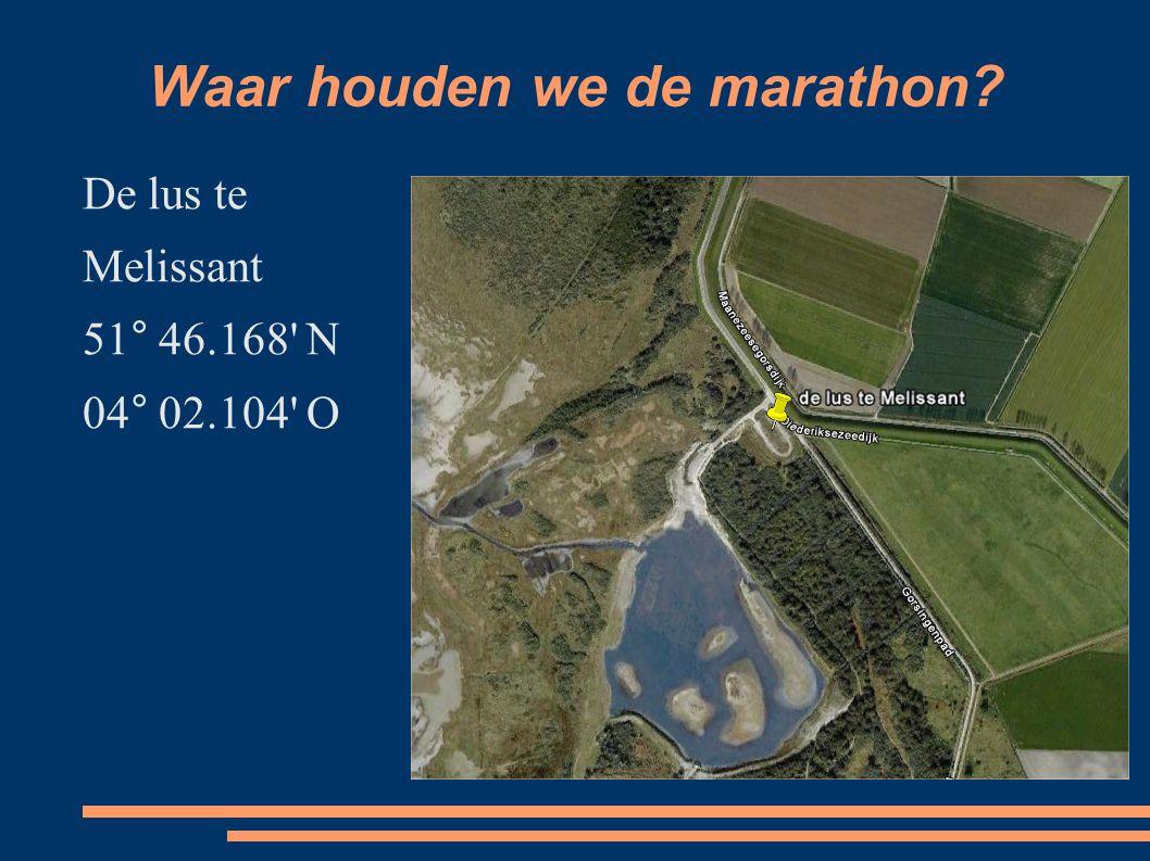 Waar houden we de marathon De lus te Melissant 51° 46.168 N 04° 02.104 O