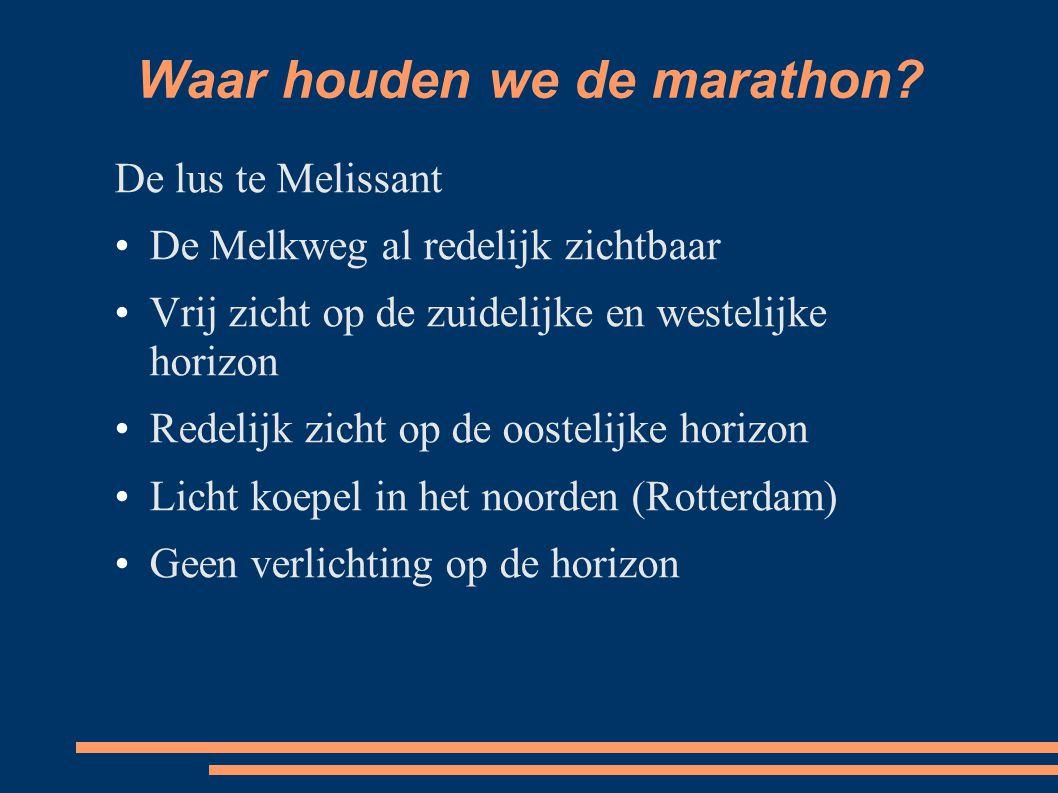 Waar houden we de marathon.