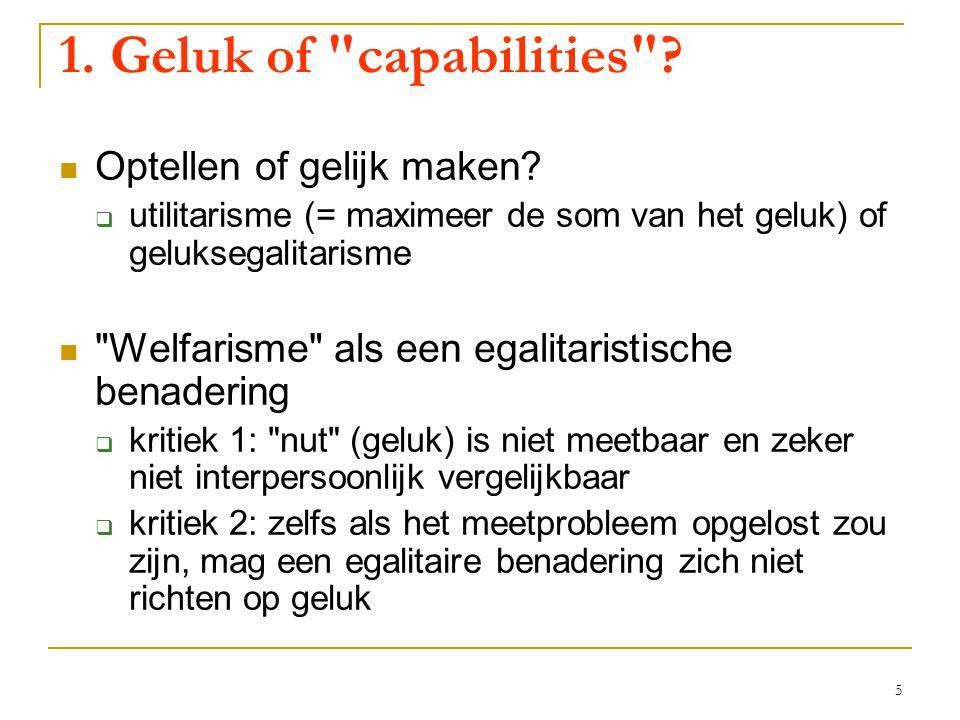 5 1. Geluk of capabilities . Optellen of gelijk maken.