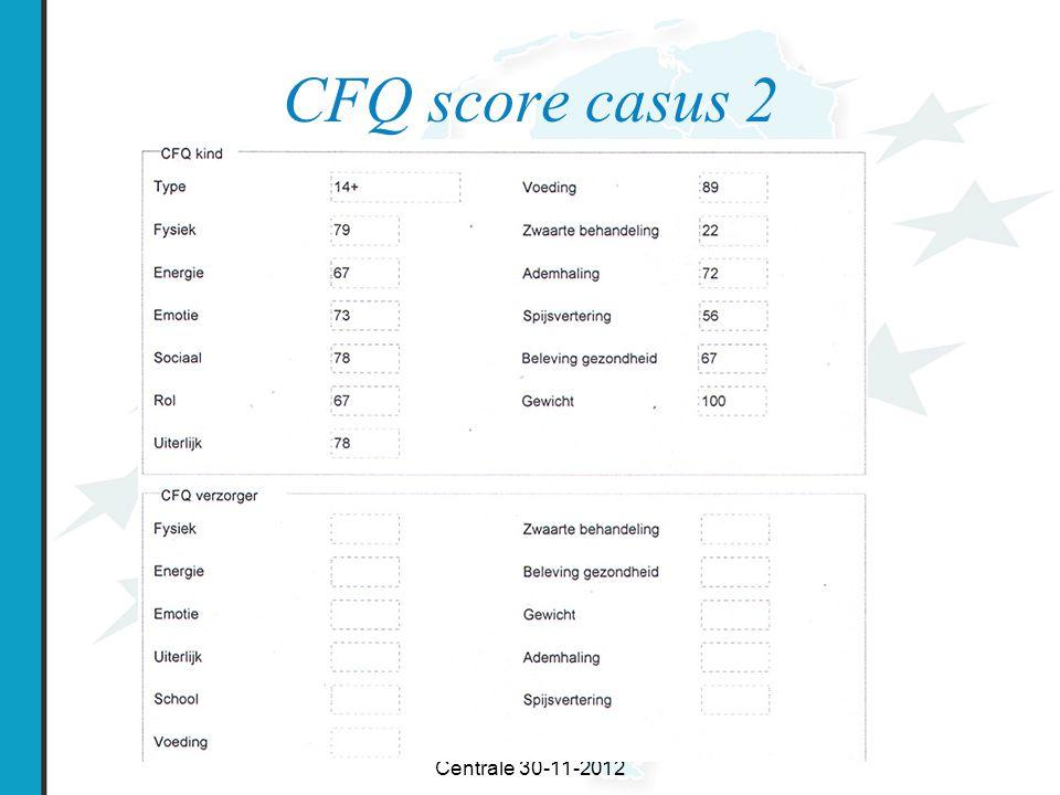 Workshop Symposium CF Centrale 30-11-2012 CFQ score casus 2