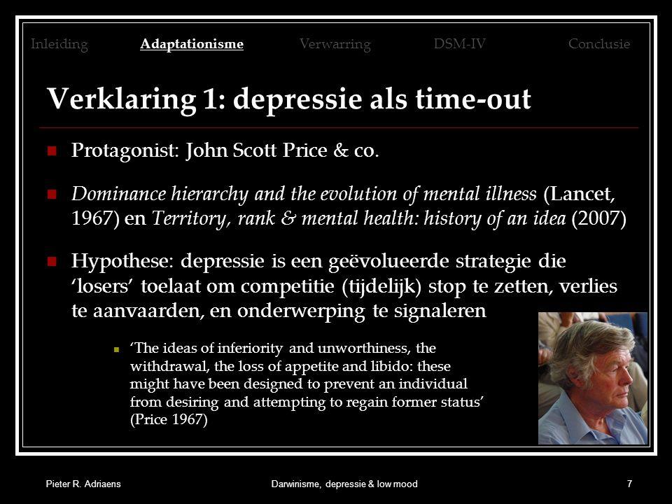 Pieter R.AdriaensDarwinisme, depressie & low mood18 Tabel uit Wakefield et al.