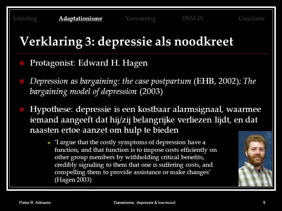Pieter R.AdriaensDarwinisme, depressie & low mood10 3.