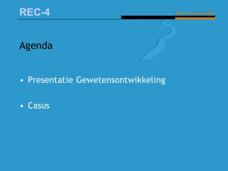 REC-4 Agenda Presentatie Gewetensontwikkeling Casus