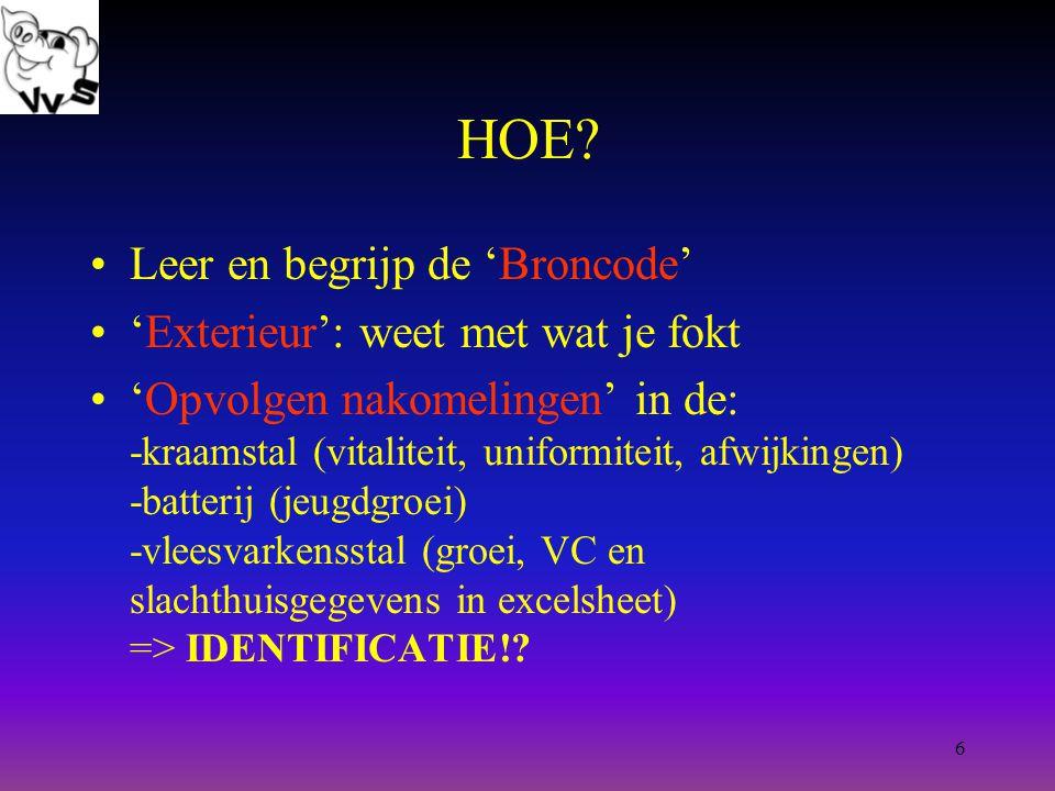 7 Source code = Broncode Varkensstamboek: 'open source filosofie' gelijkenissen Linux vs.