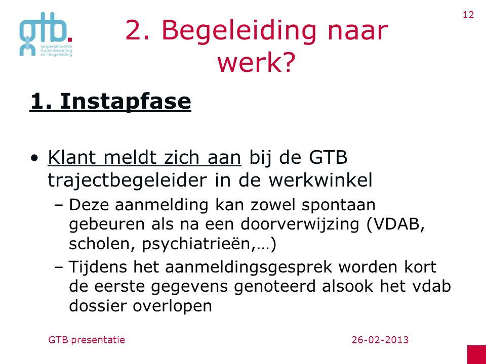 26-02-2013GTB presentatie 12 2.Begeleiding naar werk.