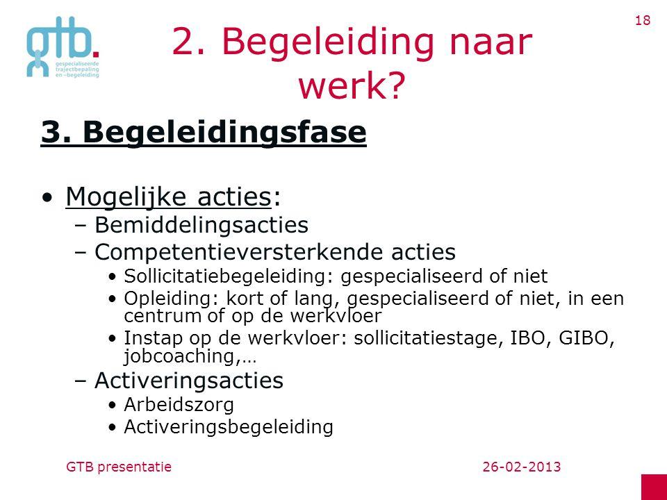 26-02-2013GTB presentatie 18 2.Begeleiding naar werk.